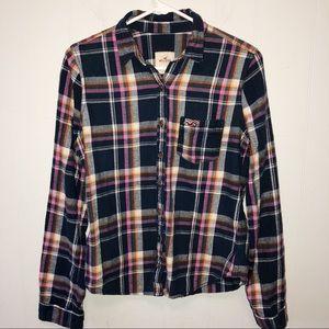 Hollister Plaid Flannel Button Down Shirt